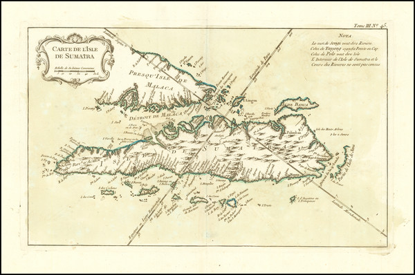 0-Singapore, Indonesia and Malaysia Map By Jacques Nicolas Bellin