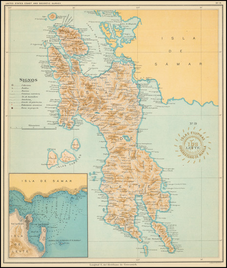 82-Philippines Map By Hoen & Co.