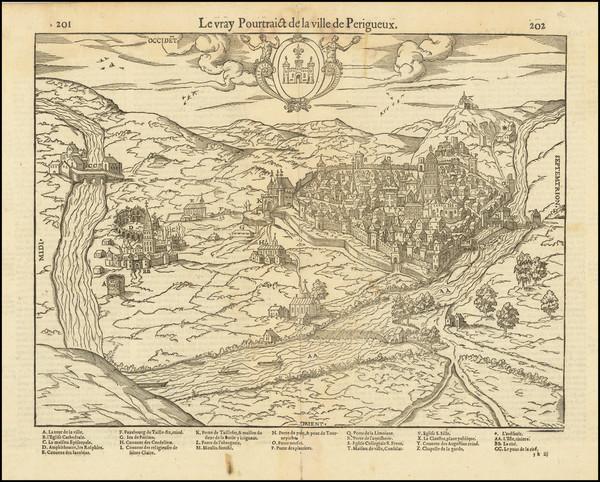 37-Grand Sud-Ouest Map By Francois De Belleforest