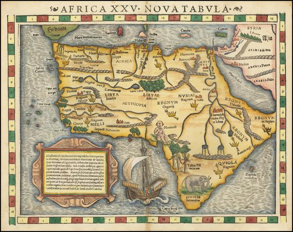 88-Africa Map By Sebastian Munster