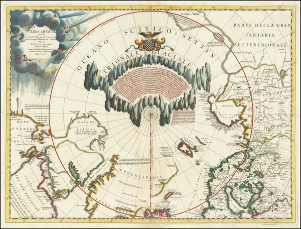 36-Polar Maps, Canada and Eastern Canada Map By Vincenzo Maria Coronelli