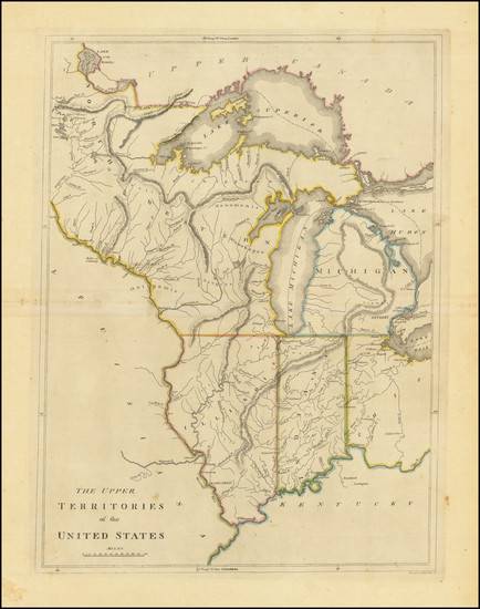84-Midwest, Illinois, Indiana, Michigan and Plains Map By Mathew Carey