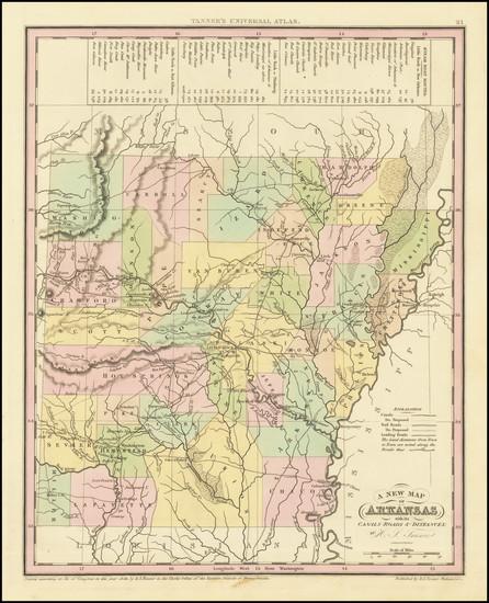 27-Arkansas Map By Henry Schenk Tanner