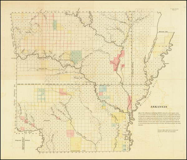 16-Arkansas Map By General Land Office