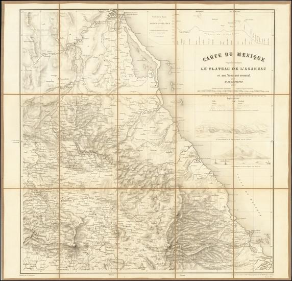 35-Mexico Map By Henri Louis Frédéric de Saussure
