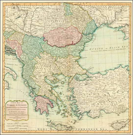 32-Romania, Turkey, Turkey & Asia Minor and Greece Map By Laurie & Whittle