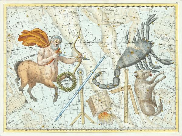 15-Celestial Maps Map By Johann Elert Bode
