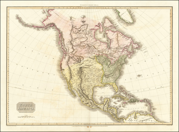 93-North America Map By John Pinkerton