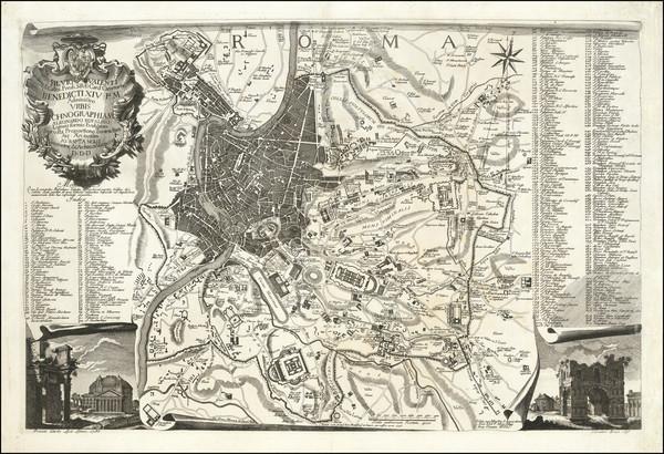 68-Rome Map By Leonardo Bufalino / Giovanni Battista Nolli