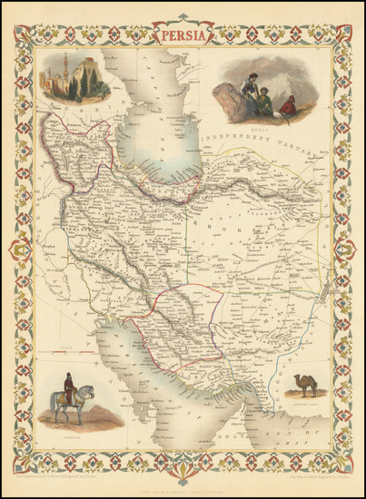 91-Central Asia & Caucasus, Middle East and Persia Map By John Tallis