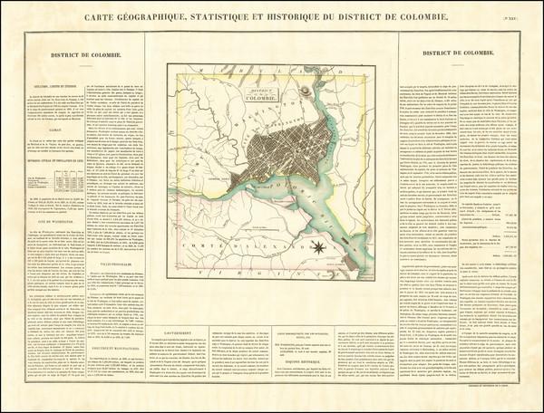 55-Washington, D.C. Map By Jean Alexandre Buchon