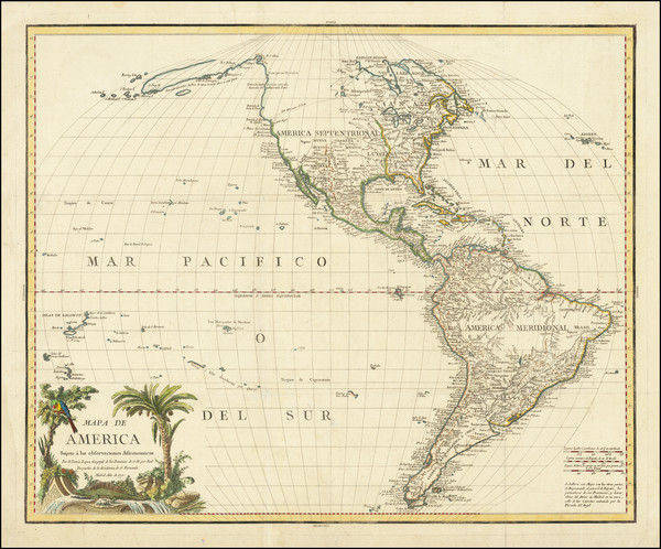 86-Hawaii, South America, Pacific, Hawaii, California and America Map By Tomás López