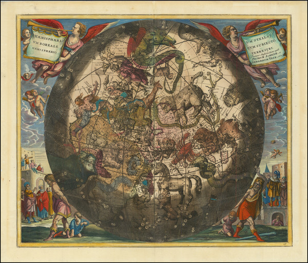94-Celestial Maps Map By Andreas Cellarius