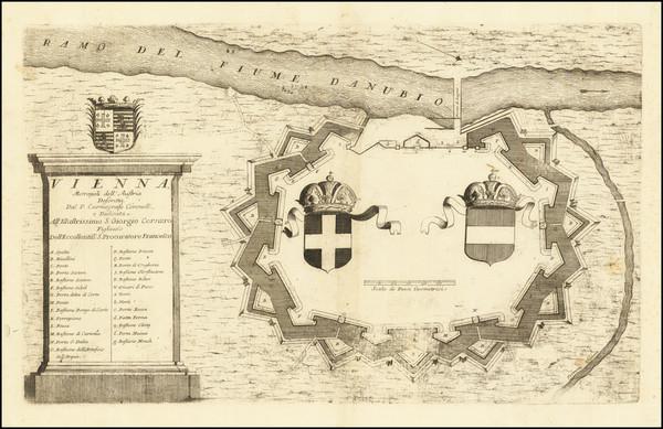 52-Austria Map By Vincenzo Maria Coronelli