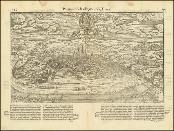 96-Mitteldeutschland Map By Francois De Belleforest