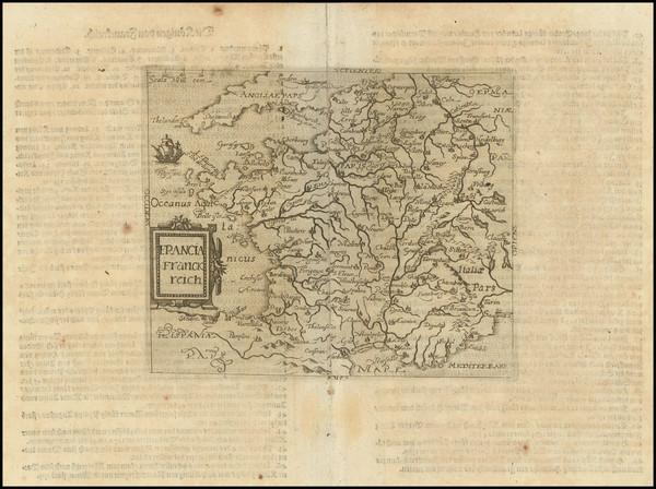 88-France Map By Johannes Matalius Metellus