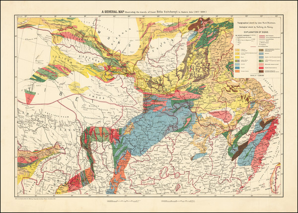 85-China, India and Central Asia & Caucasus Map By Military Geographic Institute