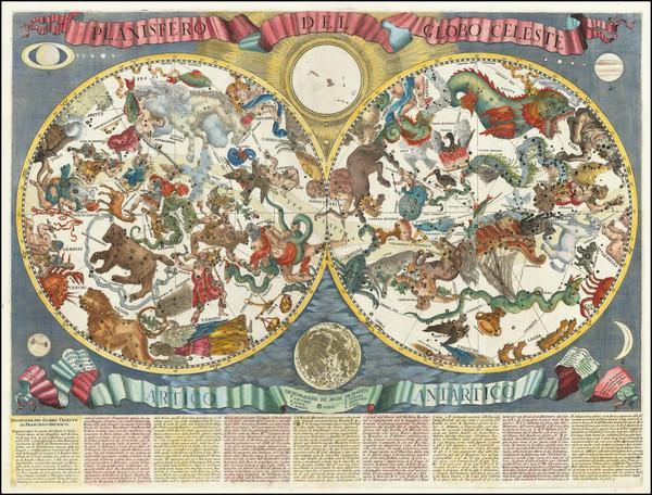 51-Celestial Maps Map By Francesco Brunacci / Giacomo Giovanni Rossi