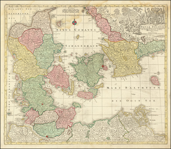 2-Sweden and Denmark Map By Tobias Conrad Lotter