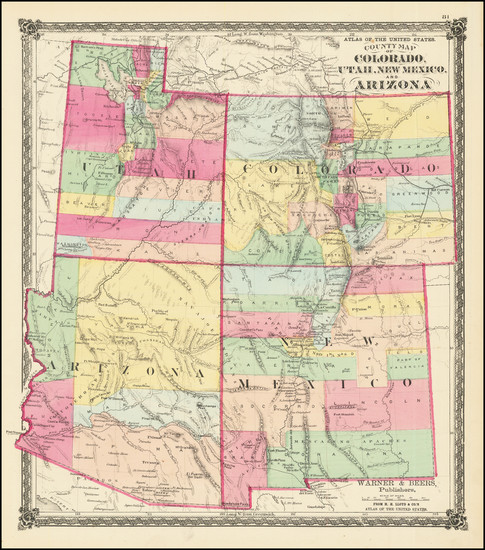 15-Southwest and Rocky Mountains Map By H.H. Lloyd / Warner & Beers