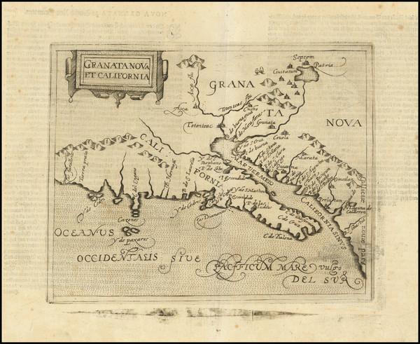 81-Southwest, Baja California and California Map By Johannes Matalius Metellus