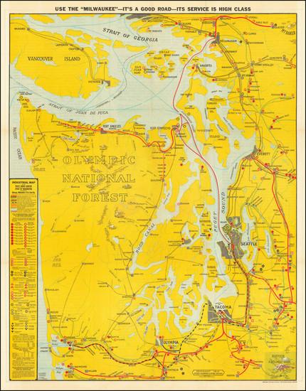 70-Washington Map By J. H. Ginet