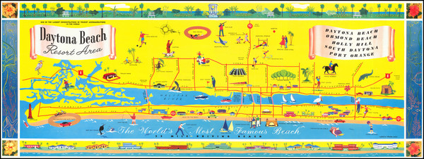 39-Florida and Pictorial Maps Map By Wadad & Charles Corsi