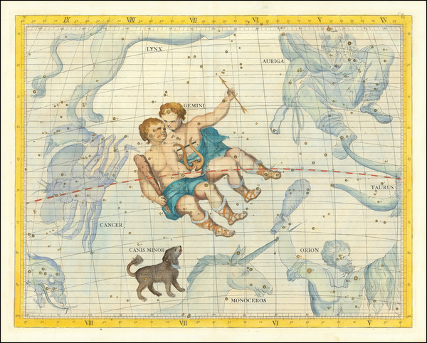 86-Celestial Maps Map By John Flamsteed