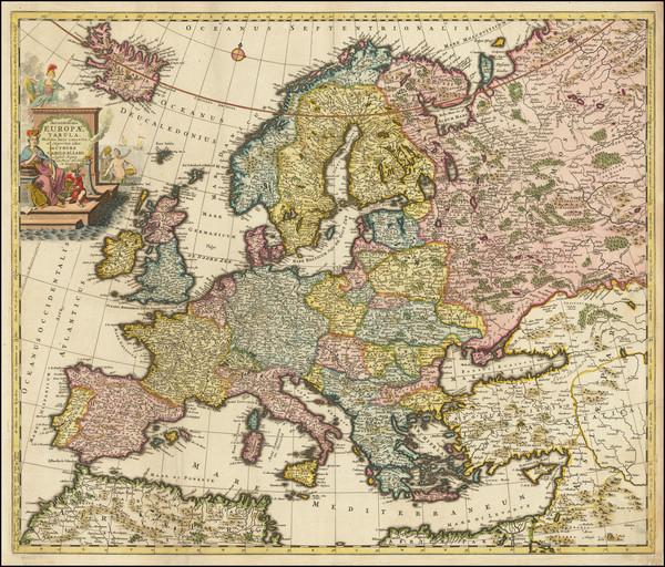 22-Europe Map By Carel Allard