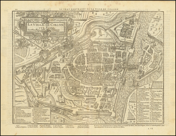 9-Other French Cities Map By Francois De Belleforest