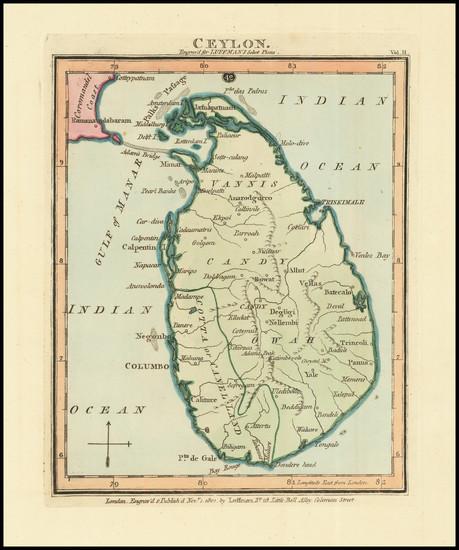 84-Sri Lanka Map By John Luffman