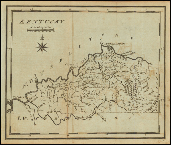 34-Kentucky Map By Joseph Scott
