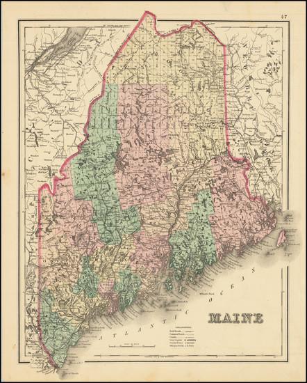 55-Maine Map By O.W. Gray