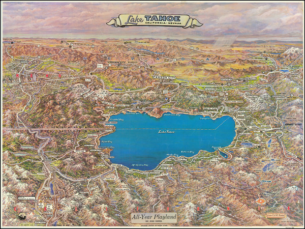 86-Nevada and California Map By Gerald  Allen Eddy