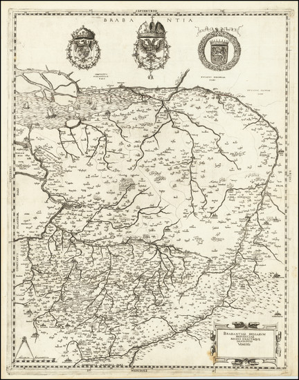 65-Netherlands and Belgium Map By Hieronymus Olgiatus