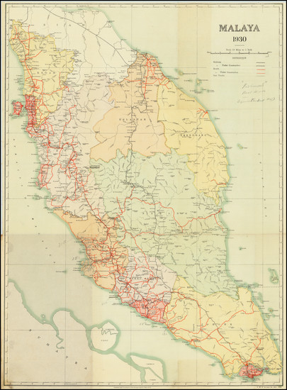39-Singapore and Malaysia Map By Surveyor-General, FMS and SS