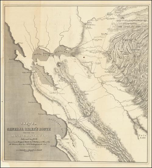 28-California Map By George Derby  &  J.McH. Hollingsworth
