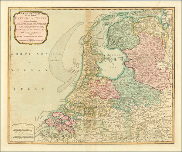 1-Netherlands Map By Laurie & Whittle