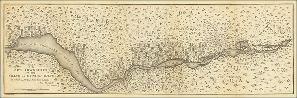 35-Eastern Canada Map By Joseph Bouchette