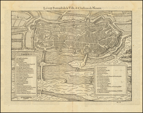 95-Other French Cities Map By Francois De Belleforest