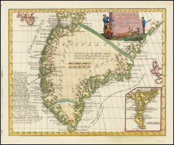 28-Polar Maps and Atlantic Ocean Map By Franz Johann Joseph von Reilly
