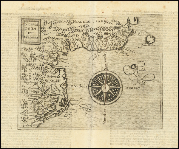 99-New England, New York State, Mid-Atlantic, Southeast and Virginia Map By Johannes Matalius Mete