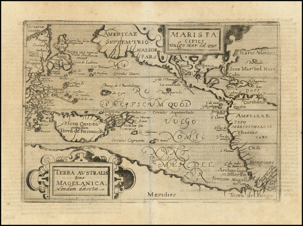 40-Australia & Oceania, Pacific, Australia, Oceania and America Map By Johannes Matalius Metel