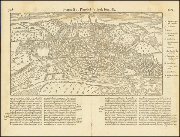 75-Other French Cities Map By Francois De Belleforest