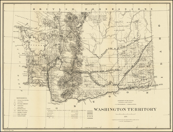 81-Washington Map By U.S. General Land Office / C. Roeser