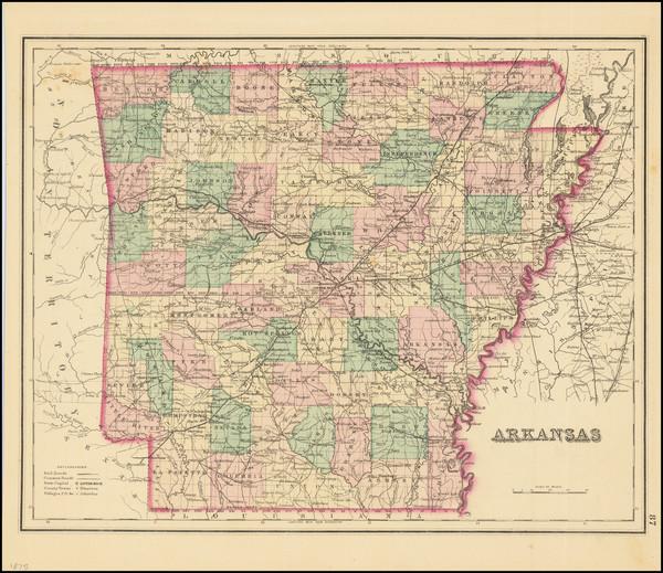 31-Arkansas Map By O.W. Gray