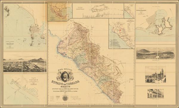 87-Mexico Map By Mariano Martinez de Castro