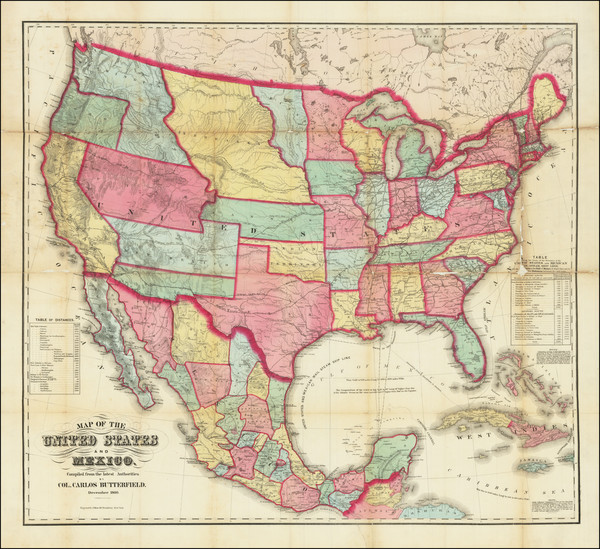 72-United States Map By Carlos Butterfield