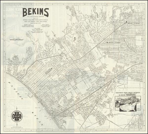 94-California Map By Bekins Van & Storage Co.