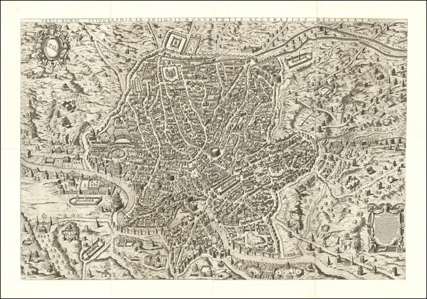 34-Rome Map By Etienne  Duperac / Calcografia Camerale